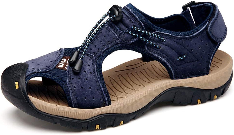 Jincosua Männer Haken Schleife Geschlossene Zehe Atmungsaktive SOE SOE SOE Sohle Rutschfeste Sandalen UK5.5-10 (Farbe   Blau, Größe   EU 42)  b9aaf3