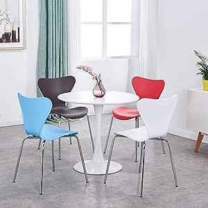 Grrlloki Chair-Modern Minimalist Wrought Iron Chair Restaurant Fashion Creative Butterfly Chair Home Dining Chair Stainless Steel Backrest Chair Chair Blue