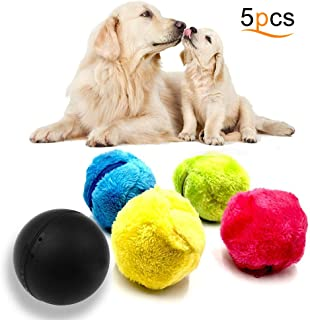 Z-H-C Magic Roller Ball Toy, Dog Cat Automatic Roller Ball, Pet Magic Toy Ball 1 Rolling Ball & 4 Color Ball Cover for Cleaning Home and Pet Interactive Toys, Best