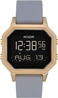 NIXON Siren SS A1212 - Light Gold/Gray - 101M Water Resistant Women's Digital Sport Watch (36mm Watch Face, 18mm-16mm Stainless Steel Band)