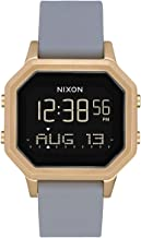 NIXON Siren SS A1212 - Light Gold/Gray - 101M Water Resistant Women's Digital Sport Watch (36mm Watch Face, 18mm-16mm Stainless Steel Band)