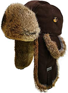 suede fur trapper hat
