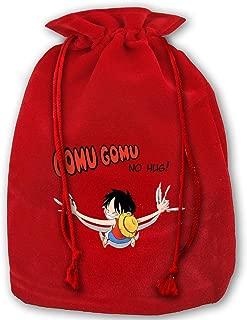 Gomu Gomu No Hug Luffy One Piece Christmas Drawstring Bag Gift Bags Santa Sack for Christmas Party Decoration