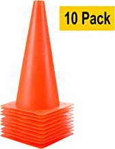 Plastic Safety Agility Field Marker Cones for Soccer Basketball Football Skate Drills Training/& Outdoor Activity or Events Soccer Training Cones Alytree 9 Inch Traffic Cones