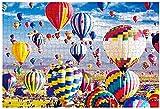 Puzzle de 1000 Piezas para Adultos-Edición Premium Papel Grueso,Puzzles para Adultos,Rompecabezas de Piso Juego de Rompecabezas y Juego Familiar(70x50cm) (Hot Air Balloon)
