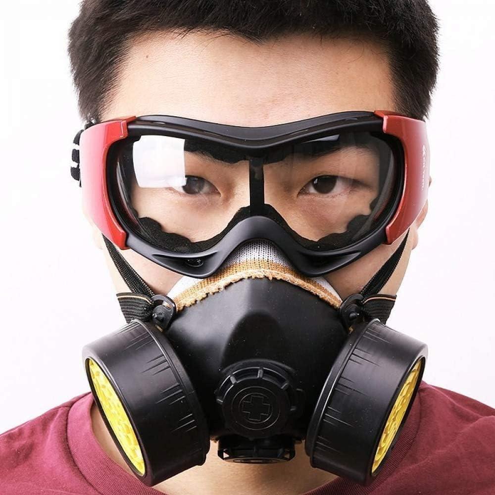 LLDKA Máscara de Filtro de Gas, para la Pintura, Polvo, partículas, Industrial, Soldadura y Otras Protecciones de Trabajo químico de Gas máscara de Polvo con los anteojos