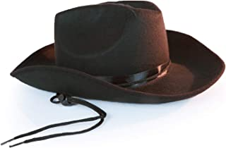34628c043015b Squirrel Products Western Sheriff Cowboy Hat - One Size with Elastic Band - Costume  Accessories