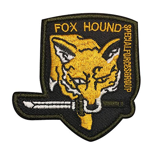 Morton Home Metal Gear Fox Hound Special Force Original Logo Patch (Black)