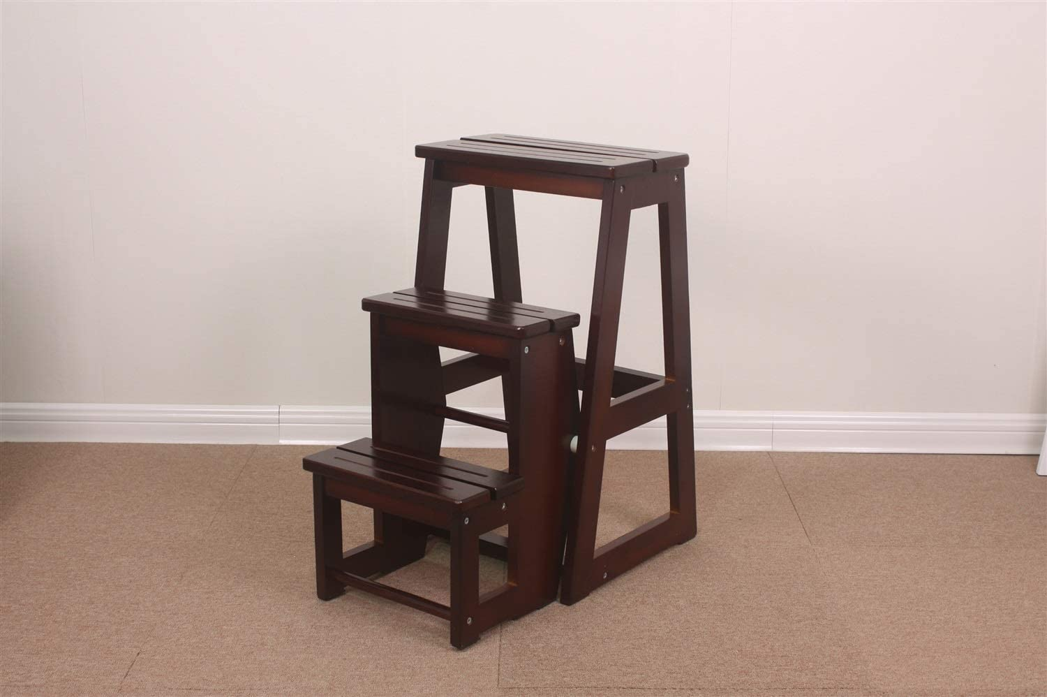 FDFGGR Wooden Folding Minneapolis Mall Stepladder Two Solid Ladder Spasm price Stool
