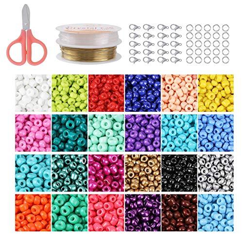 Set de cuentas coloridas 3mm vidrio Pony abalorios mini cuentas hechas a mano para hacer joyería collares pulseras pendientes Bijouterie regalo DIY Craft niños adultos adultos
