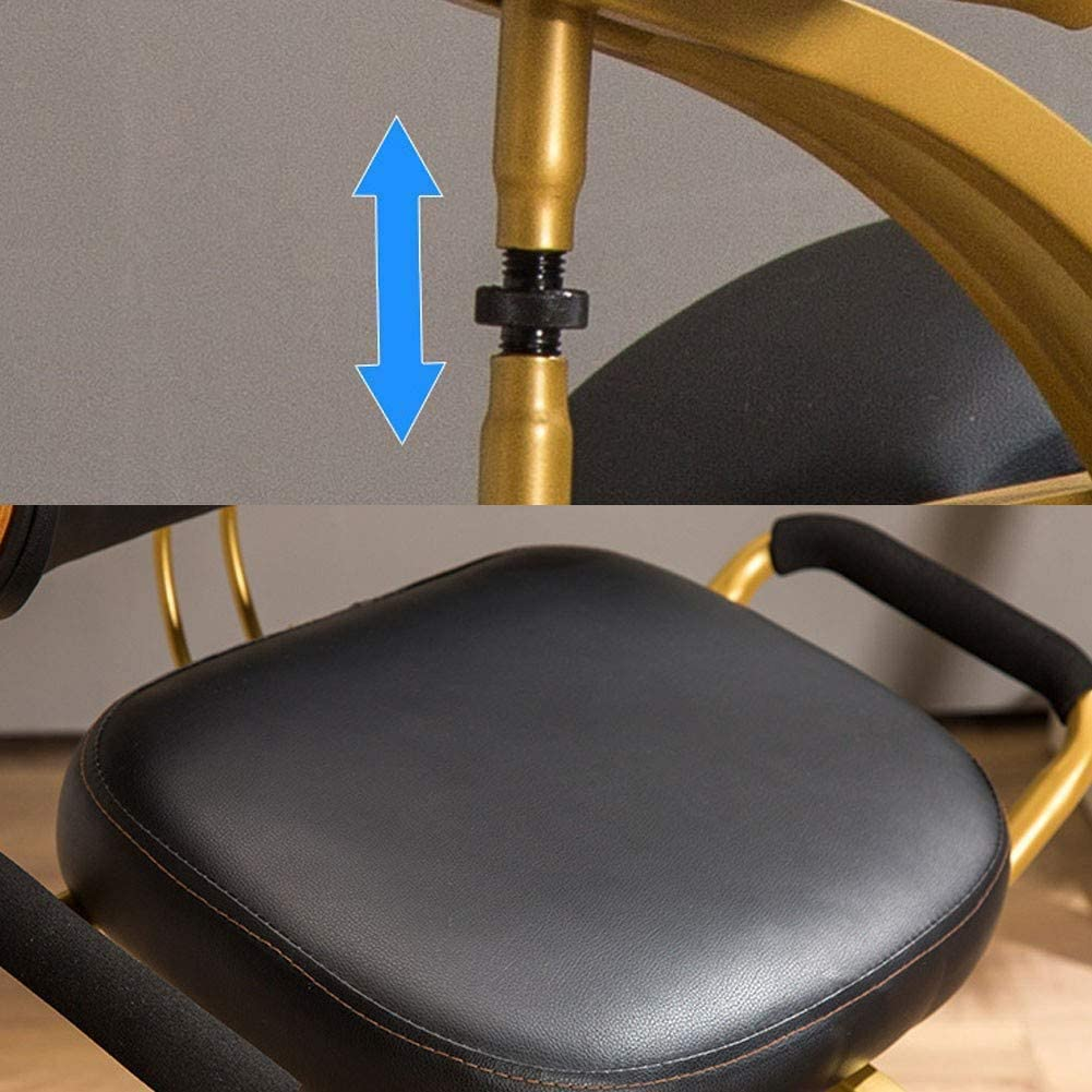 TYX-SS Chaise À Genoux De Massage Ergonomique, Tabouret De Bureau avec Support Dorsal, Améliore La Posture Et La Circulation Sanguine,Vert Black