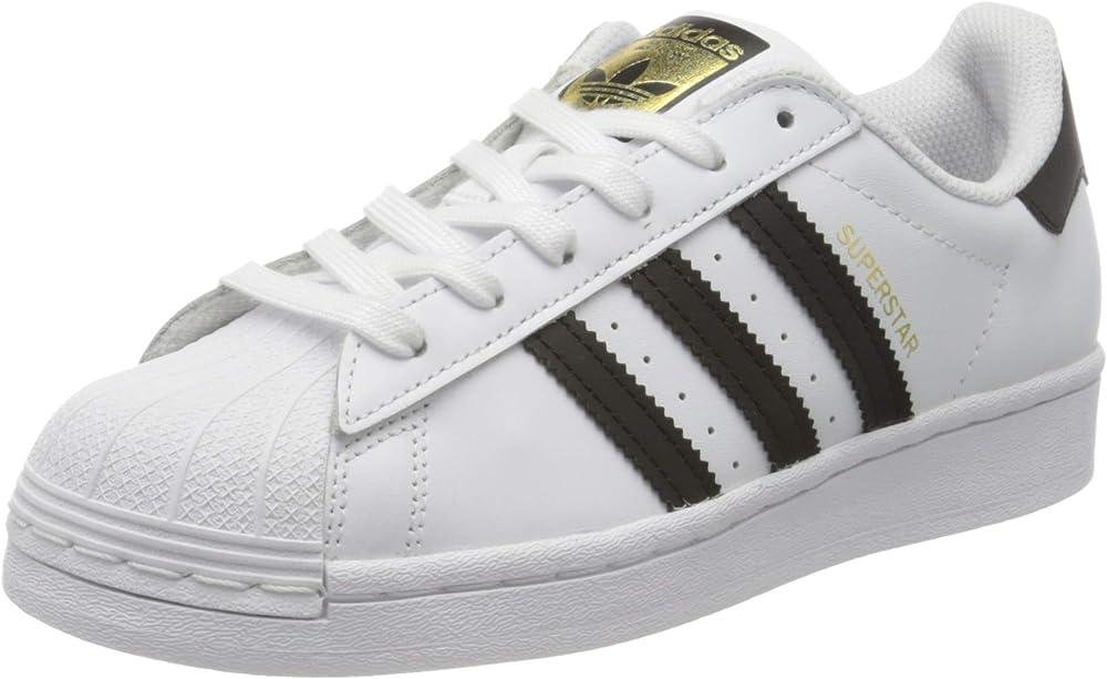 Adidas superstar j, scarpe da ginnastica unisex-bambini - ragazzi,sneakers  in pelle liscia FU7712