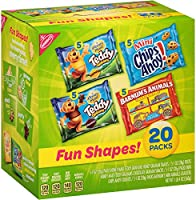 Nabisco Fun Shapes Cookie & Cracker Mix, Variety Pack with Teddy Grahams, Chips Ahoy! Cookies & Barnum's Animal...