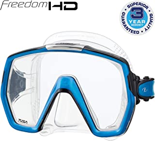 TUSA M-1001 Freedom HD Scuba Diving Mask, Fishtail Blue
