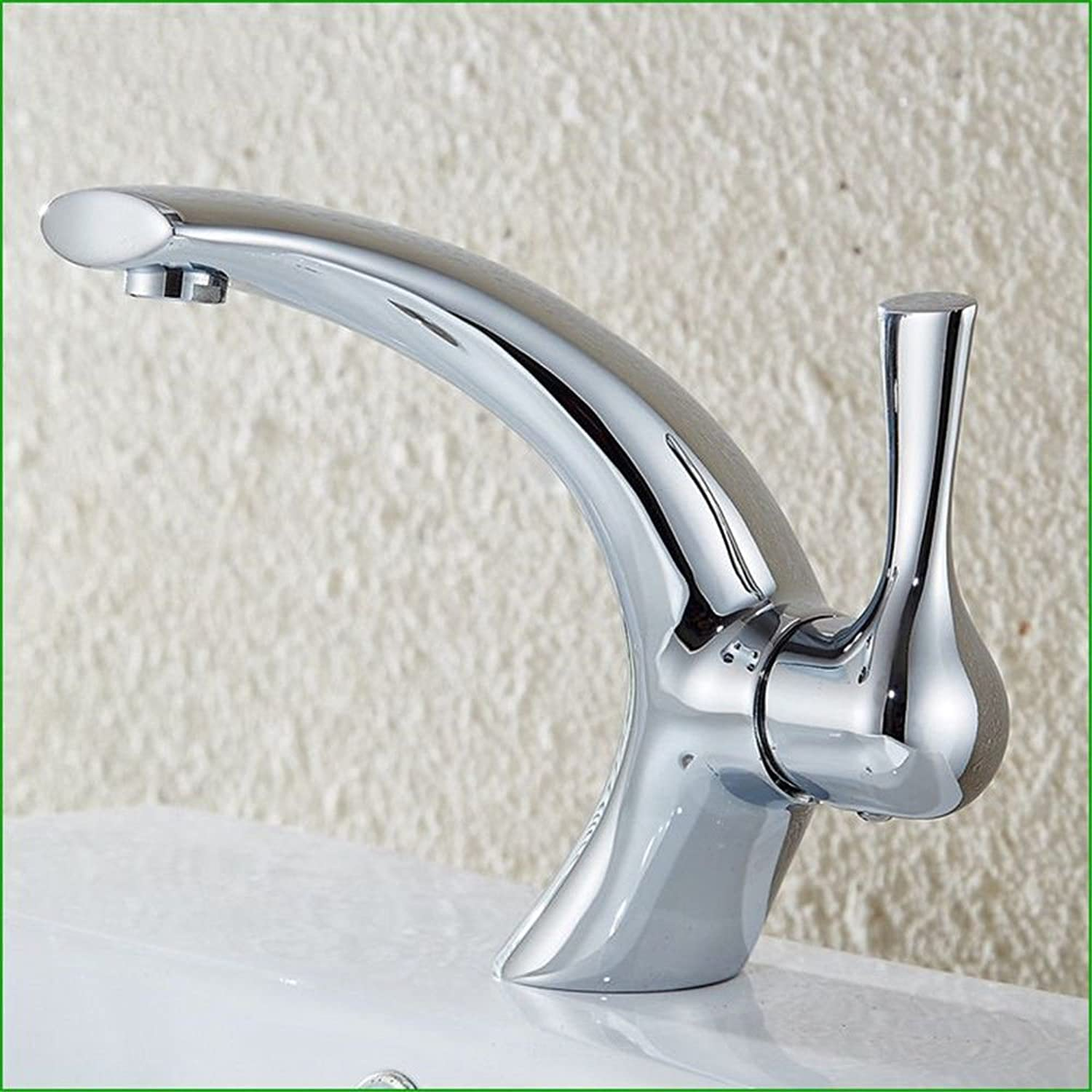 AQMMi Bathroom Sink Mixer Tap Brass Chrome Hot and Cold Water Single Lever Single Lever Taps for Bathroom Sink