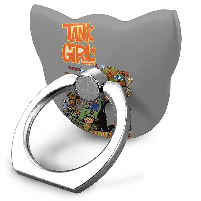 私自体高度なゴリラズ Tank Girl スマホ リング ホールドリング 指輪リング 薄型 おしゃれ スタンド機能 落下防止 360度回転 タブレット/スマホ\r\n IPhone/Android各種他対応
