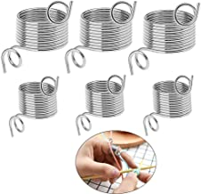 VintageBee 6 Pack 2 Size Metal Yarn Guide Finger Holder Knitting Thimble for Crochet Knitting Crafts Accessories Tool