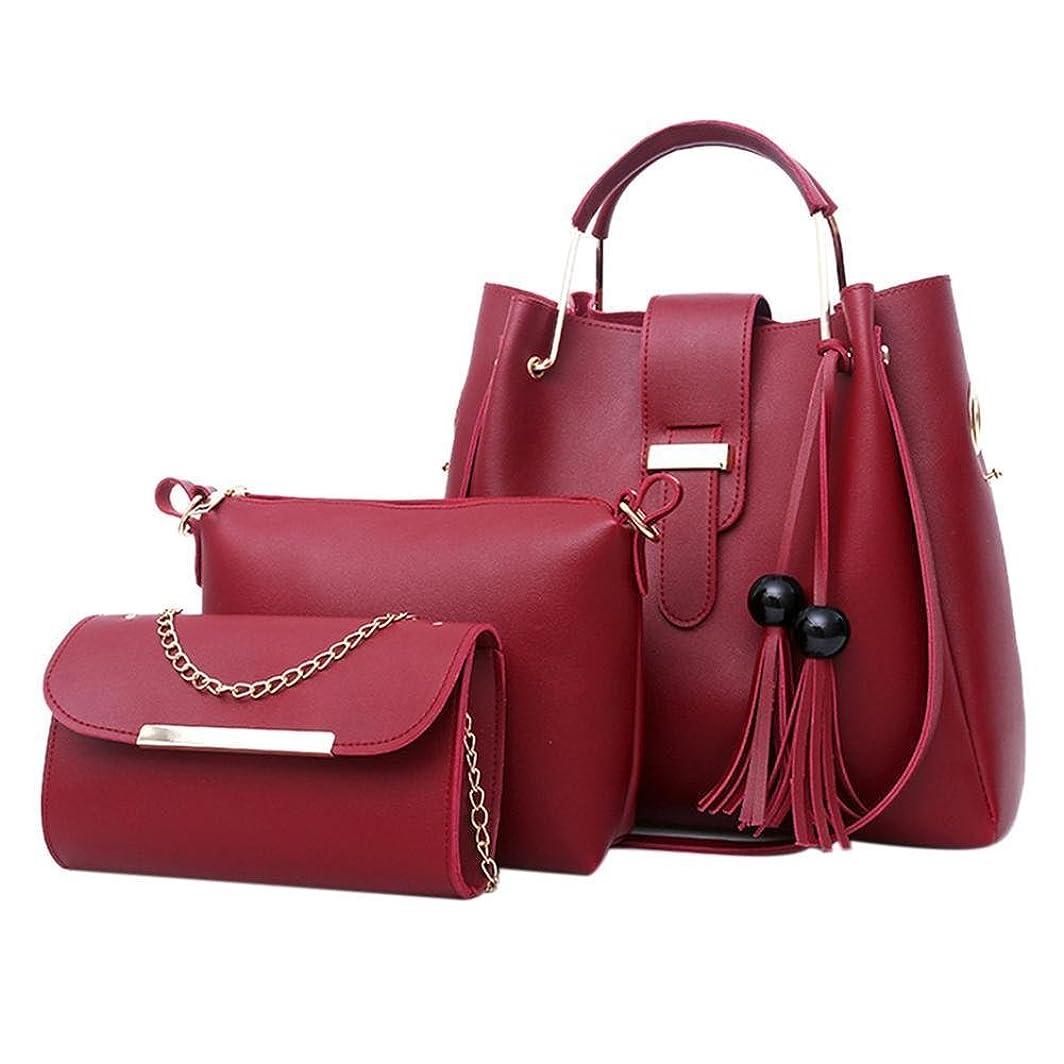 頂点広い囲いシューズ&バッグ/ バッグ?スーツケース / レディースバッグ?財布 / バッグ /ショルダーバッグ/ 3pcs/Set Luxury Women Handbag Shoulder Bags Tote Purse Messenger Satchel Leather