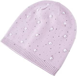 Winter hat Knit hat Rhinestone Pearl Wool hat Fashion Earmuffs Imitation Rabbit Fur Cap