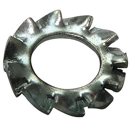 100pcs  Rondelle à dents extérieurs M7 D=12,5mm h=0,8mm acier BN 781