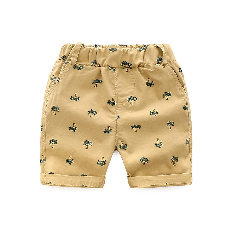 ange select キッズ 男の子 ハーフ パンツ ヤシの木 プリント ズボン