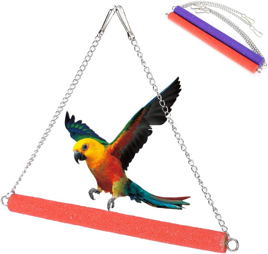 Komopesu Bargain sale 2pcsBird Parrot store Toy Hanging Cage Bell Bird Hammock Pet