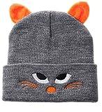 Cappello da Bambino Colore Grigio da Gatto con Orecchie Taglia Unica Cotone Caldo e Morbido Accessorio Moda per Bambini Idea Regalo Natale