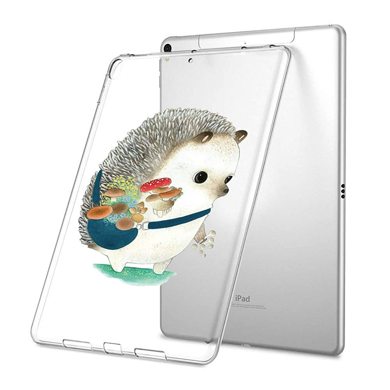 GinHo Customized Protective Cover with Slim Soft Durable TPU Ultra-Clear Silicone UV Printing Case for Cute Hedgehog iPad Air 2 x09735353714598