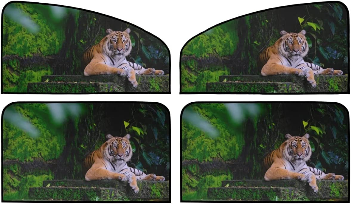 4 Piece Set Magnetic price Sun Shield for - Car Windows Animal Tiger S specialty shop