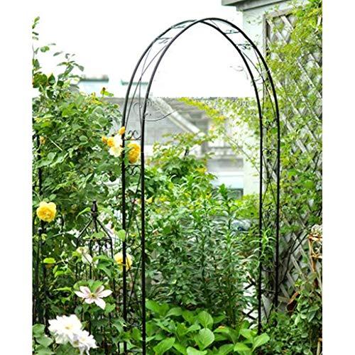YICOL Steel Garden Arch, 240cm High x 115cm Wide, Garden Arbor for Various Climbing Plant, Outdoor Garden Lawn Backyard Wedding