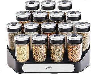 Panjianlin Spice Rack Grande capacité Fournitures de Cuisine Assaisonnement Jar Set de Cuisine de qualité Alimentaire Verr...