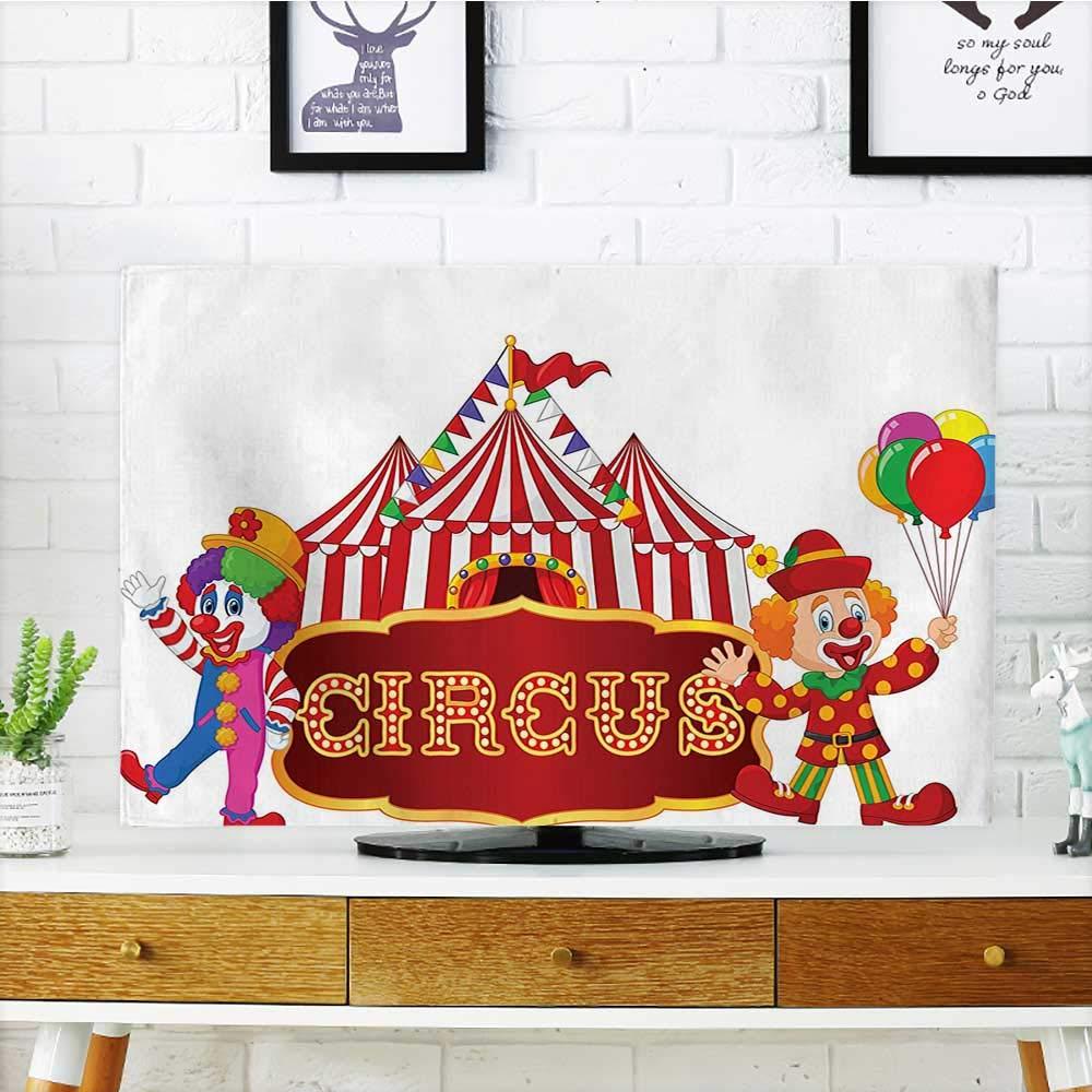 Auraisehome Proteja su colección de TV Elefante espectáculo en el Circuito ilustración Banderas Rendimiento Divertido Parque Joy diseño Protege su TV W19 x H30 Pulgadas/TV 32 Pulgadas: Amazon.es: Hogar