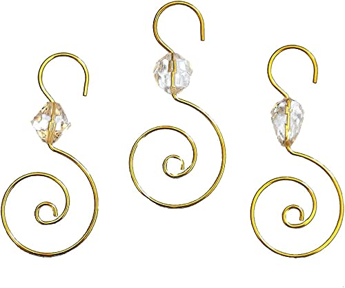 Clear Acrylic W/gold Wire Ornament Hooks 24pc.