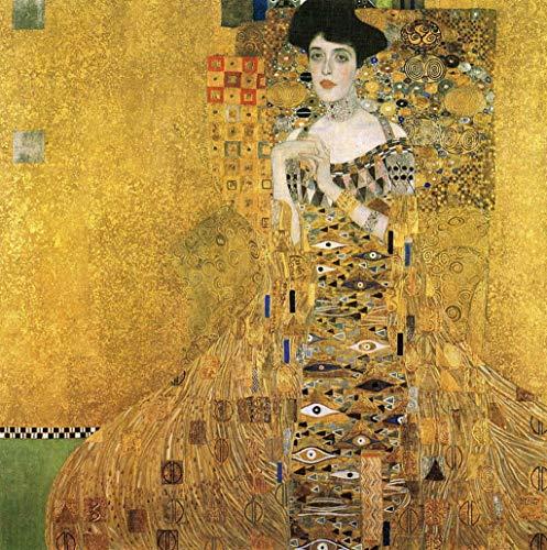 Pintar por números para Adultos Gustav Klimt Adele – Pintura para Pintar por números con Pinceles y Colores Brillantes - Cuadro de Lienzo con numeros pre Dibujado fácil de Pintar – Gustav Klimt