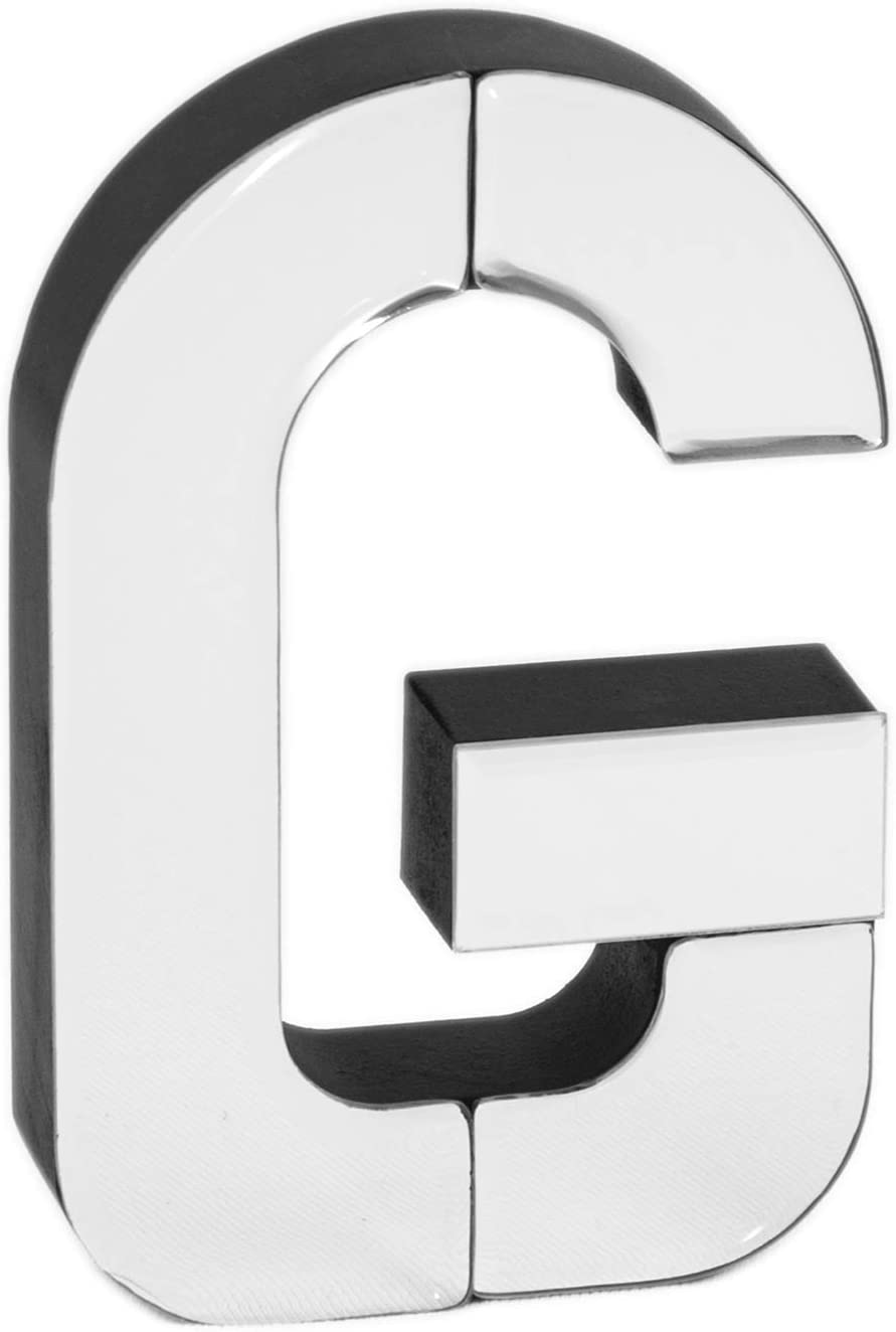 COLLECTIVE HOME - 7-inch Tall Mirrored Glass and Wood Decorative Letter, Home-Bedroom-Office Wall Décor. Perfect Fun Gift to Encourage Girls, Young Ladies & Teens. (G)