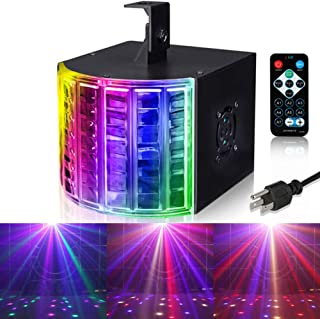 LUNSY DJ Lights, Party Lights Multicolor LED Beams with Remote and DMX Control for Disco Club Birthday Party Stage Lighting