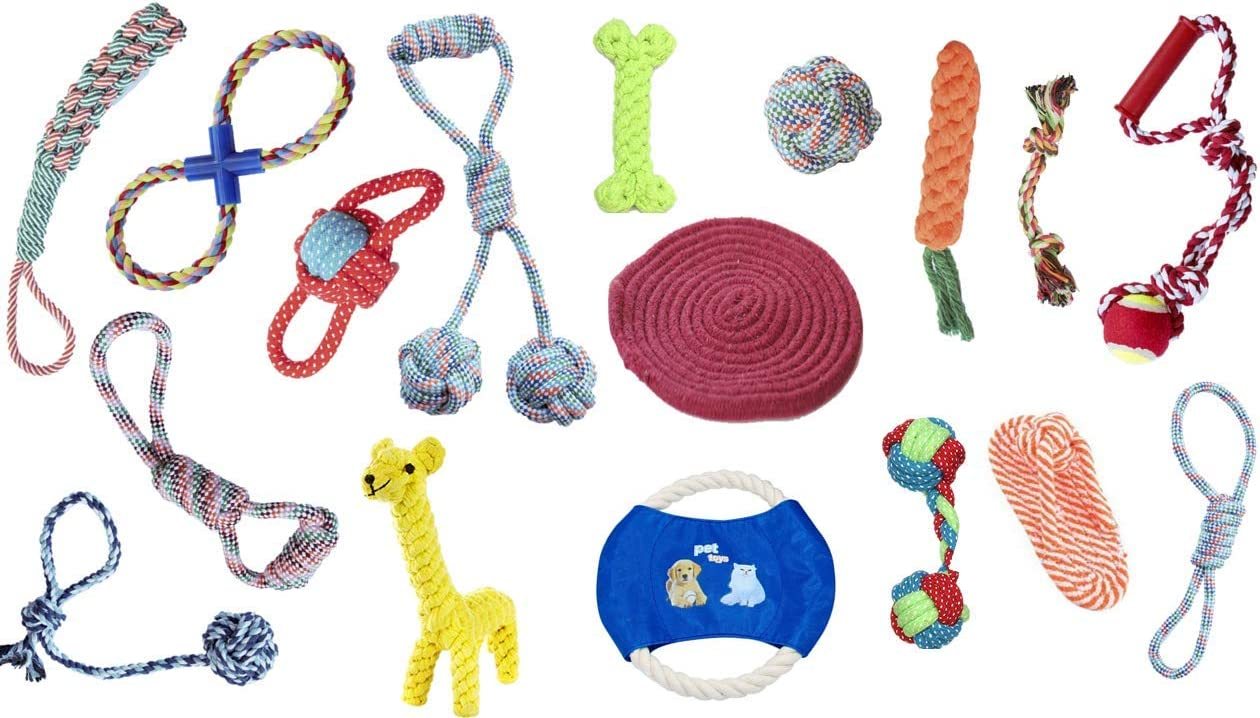 Pet Cotton Rope Chew Sales Toys Puppy Teething Interactive Bargain sale T