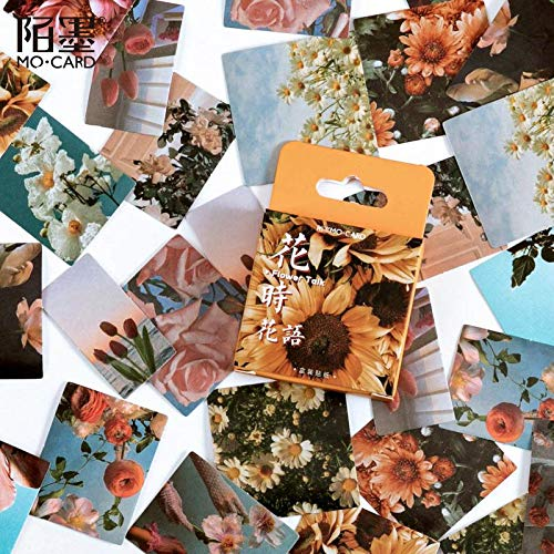 BLOUR 46 unids/Pack Flor Floral papelería Pegatina planificador álbum de Recortes Diario Deco Escuela Material de Oficina Pegatinas Kawaii