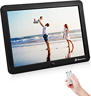Powerextra 8 inch Digital Photo Frame HD Digital Picture Frame 1280 x 800 with Remote Control, Support Thumb USB Drive, SD/MMC/MS Card and Photos Auto Rotate