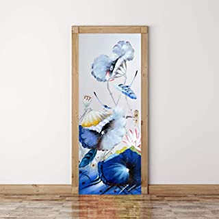 LeiDyWer Sticker Porte Sticker De Porte Papillon 3D Autocollants De Porte PVC Papier Peint Auto-Adhésif DIY Décoration De ...