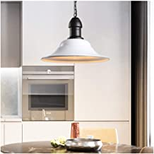 Light-S Simple White Pendant Light Kitchen Wrought Iron Fixture Single Head Lid Ceiling Light Coffee Shop Led Hang Lamp