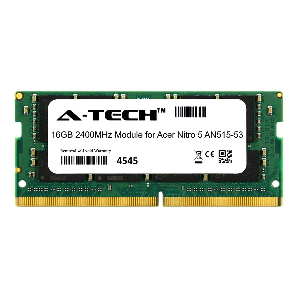 A-Tech 16GB Module for Acer Nitro 5 AN515-53 Laptop & Notebook Compatible DDR4 2400Mhz Memory Ram (ATMS279639A25831X1)