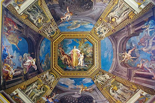 Home Comforts Peel-n-Stick Poster of Museum Vatican Art Fresco Dome Italy Ceiling Vivid Imagery Poster 24 x 16 Adhesive Sticker Poster Print