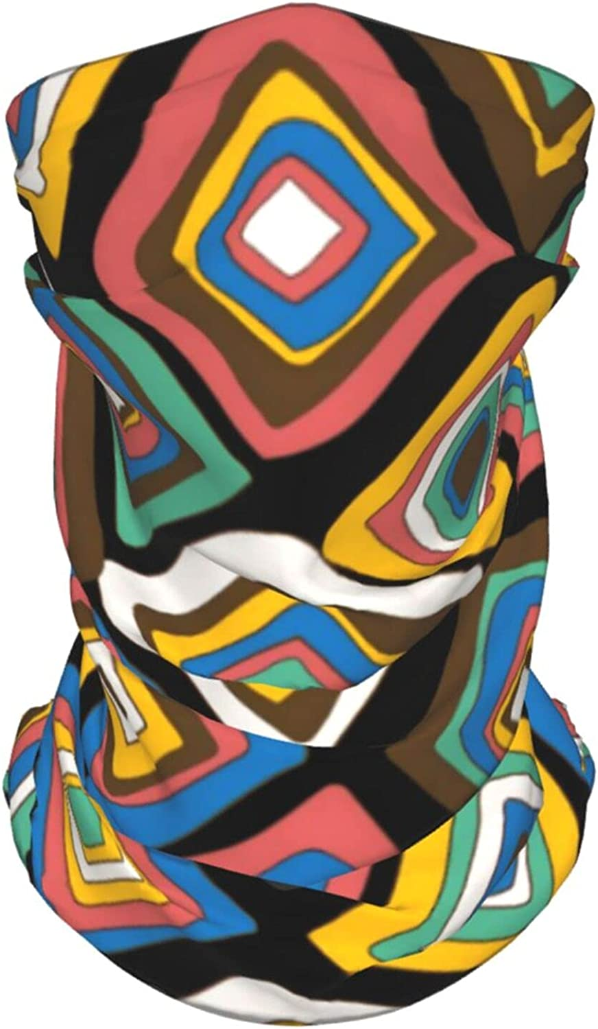 Colorful Geometric Neck Gaiter Multipurpose Headwear Ice Silk Mask Scarf Summer Cool Breathable Outdoor Sport 2 Pcs