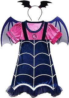 Suyye Girls Vampirina Dress Costume Outfit for Halloween Party