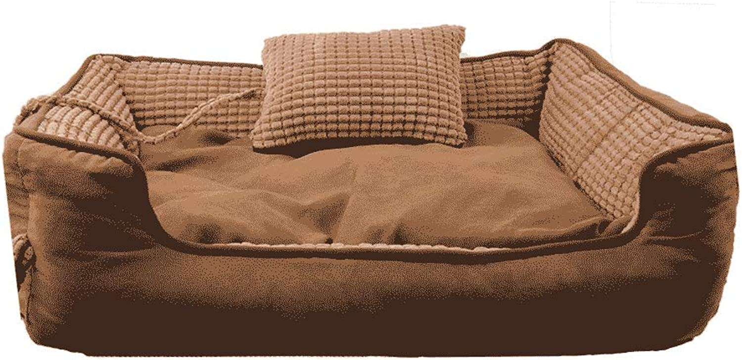 Pet bed Flannel Removable And Washable Pet Nest Four Seasons Universal Winter Warm Cat Puppy Both Sides Available WHLONG
