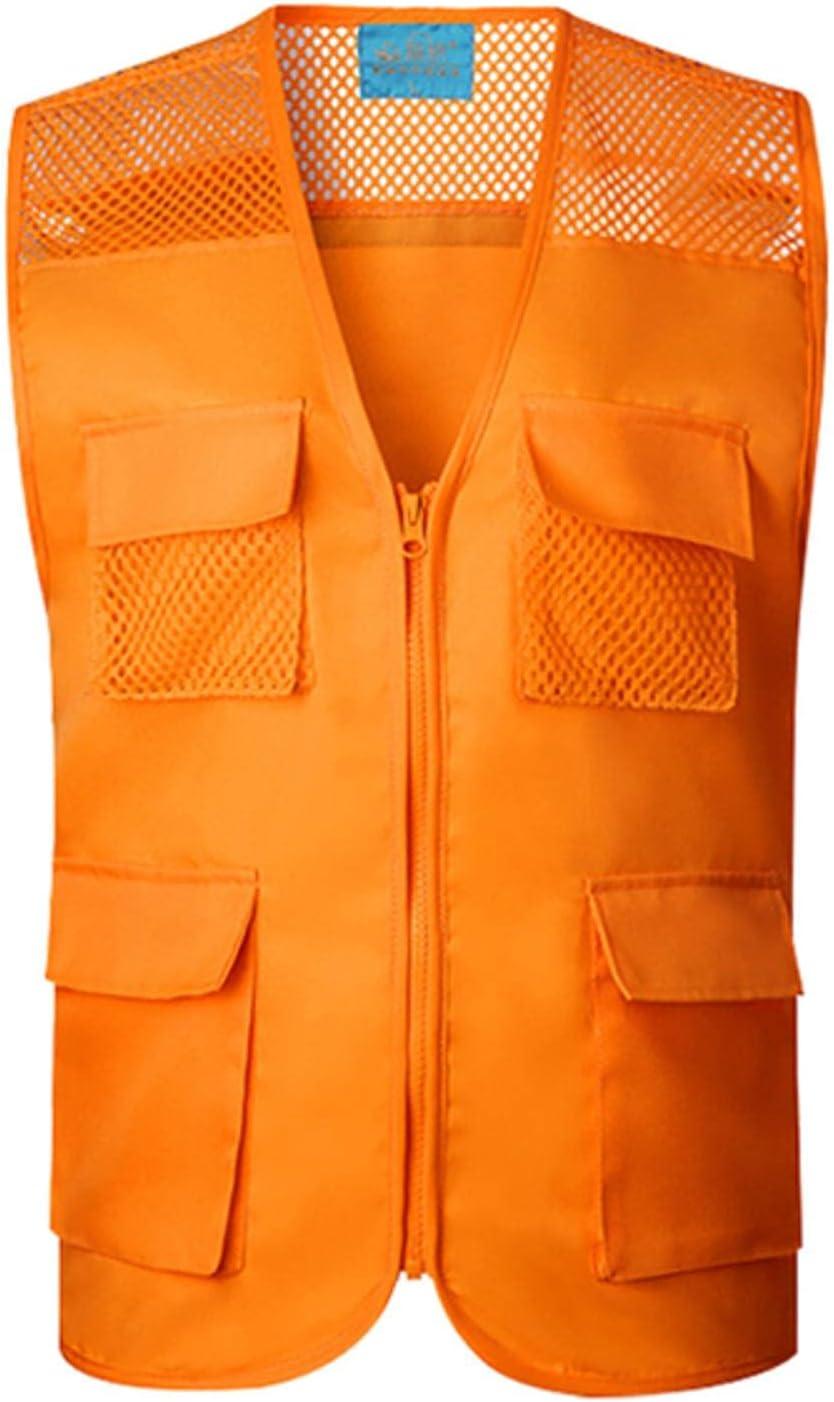 NC Four Pocket Vest Safety Outdoor Work Reflective Vest Mesh Reflective Striped Vest 200g Fabric Reflective Vest Q002