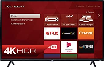 Smart TV TCL Roku 4K UHD, HDR10, modelo 2019 (55S425-MX)
