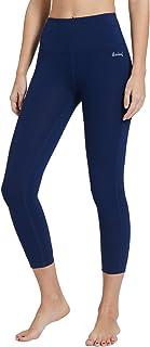 Baleaf Women's High Waist Capris Leggings Yoga Activewear Workout Inner Pocket Tummy Control