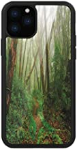 Creative iPhone Case for iPhone 11 Forest,Spooky Tropical Exotic Fog Jungle in Rainforest Nepal Asian Climate Picture Print, Green Brown,for iPhone 11 Pro 2019,for iPhone11 case